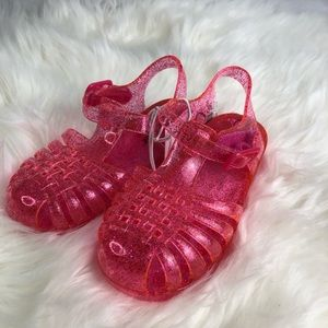 5 for $25 NWT CAT&JACK PINK GLITTER SANDALS